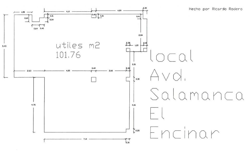 Plano local Av Salamanca 2, urb. El Encinar